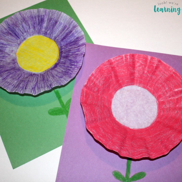 Coffee Filter Crafts for Kids Coffee Filter Flower Craft - Look! We're Learning!