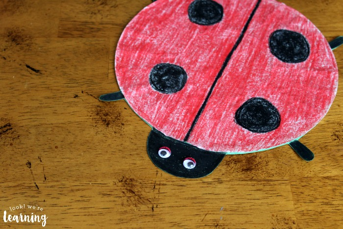 Coffee Filter Ladybug Craft Idea - Look! We're Learning!