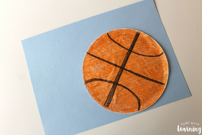 Easy Coffee Filter Basketball Craft for Kids