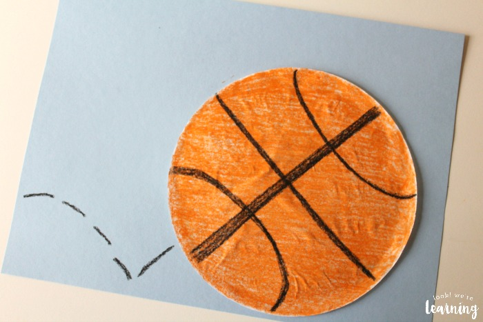 Easy Coffee Filter Basketball Craft to Make with Kids