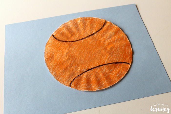 basketball craft ideas easy coffee filter basketball craft look we re learning 1097