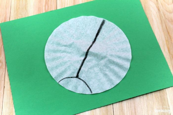 Easy Coffee Filter Ladybug Craft