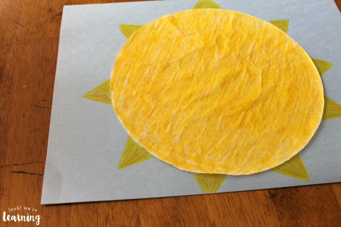 Easy Coffee Filter Sun Craft for Toddlers