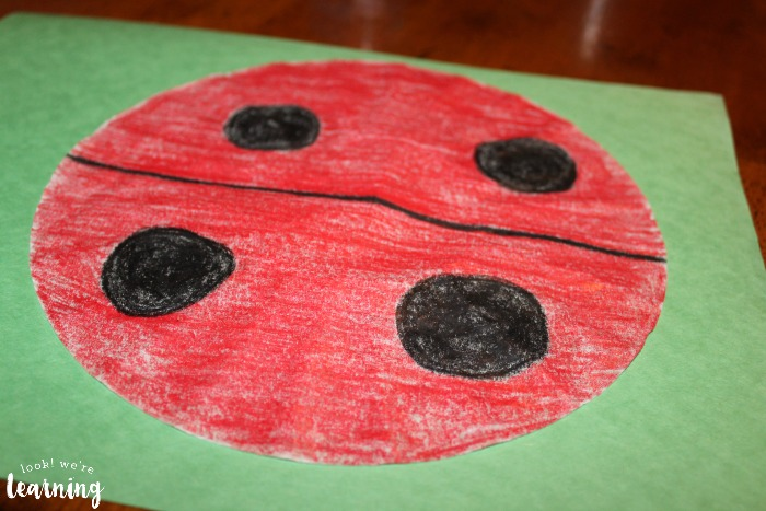 Easy Peasy Coffee Filter Ladybug Craft - Look! We're Learning!