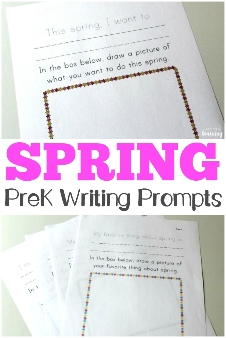 Encourage your preschoolers to express themselves with these spring preschool story prompts!