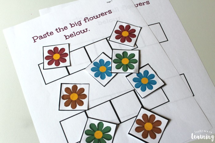 Flower Size Sorting Activity for Kids