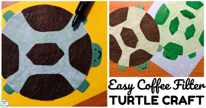 Fun and Easy Coffee Filter Turtle Craft