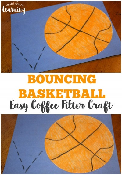 Have a little basketball fan in the family They'll love making this easy coffee filter basketball craft! Add this simple project to your collection of coffee filter crafts for kids!