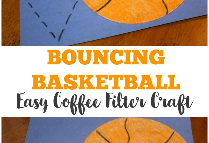 Coffee Filter Crafts for Kids: Coffee Filter Basketball Craft