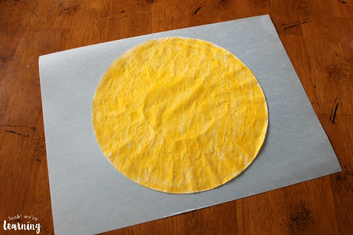 How to Make a Coffee Filter Sun Craft