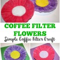 Looking for a simple spring craft Try this easy coffee filter flower craft kids can make!