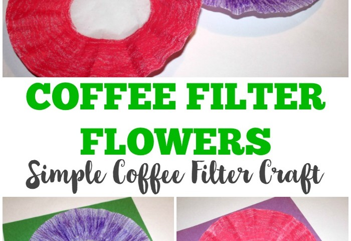 Coffee Filter Crafts for Kids: Coffee Filter Flower Craft