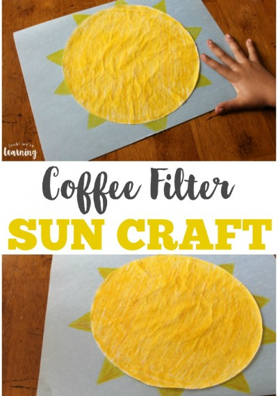 Coffee Filter Crafts for Kids: Coffee Filter Sun Craft