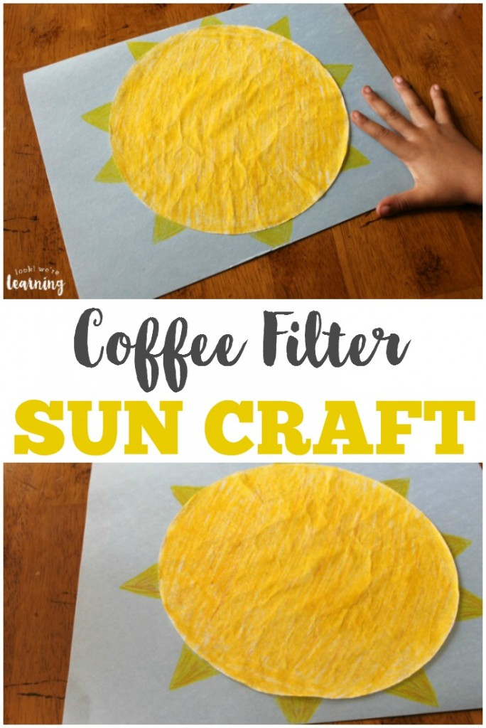 crafts with coffee filters coffee filter craft look we re learning 4155