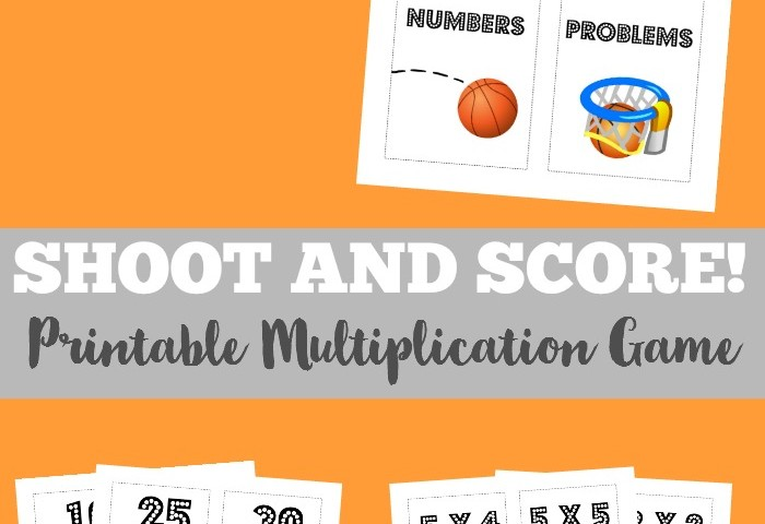 Shoot and Score Printable Multiplication Game