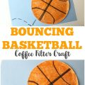 Make this super easy coffee filter basketball craft with your little sports fans!