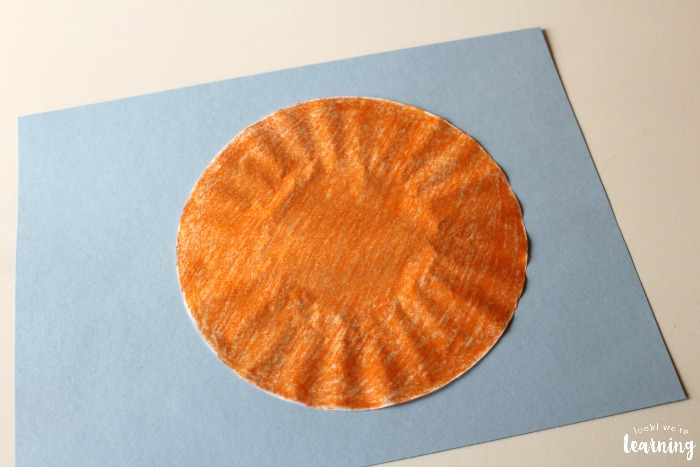 Making a Coffee Filter Basketball Craft