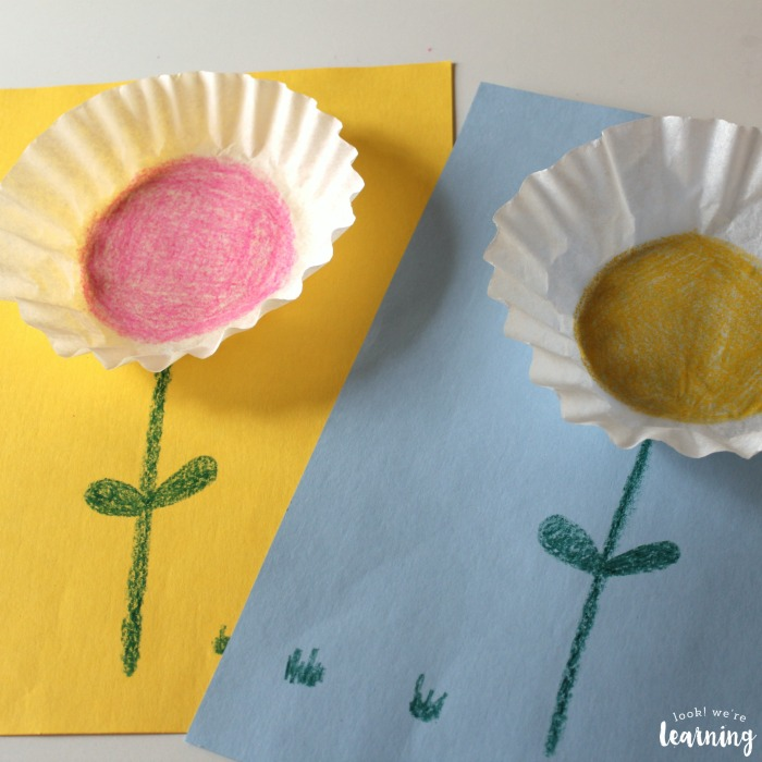 Making a Coffee Filter Flower Craft with Kids