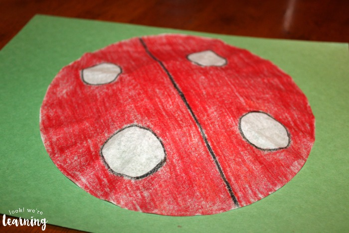 Making a Coffee Filter Ladybug Craft - Look! We're Learning!