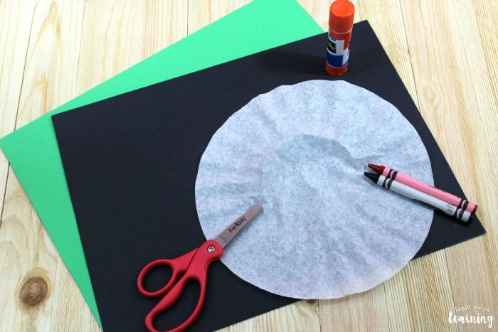 Making a Coffee Filter Ladybug Craft