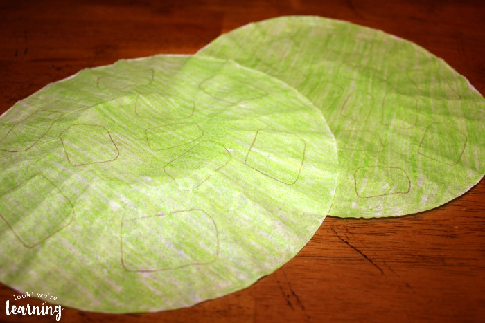 Making a Coffee Filter Turtle Craft