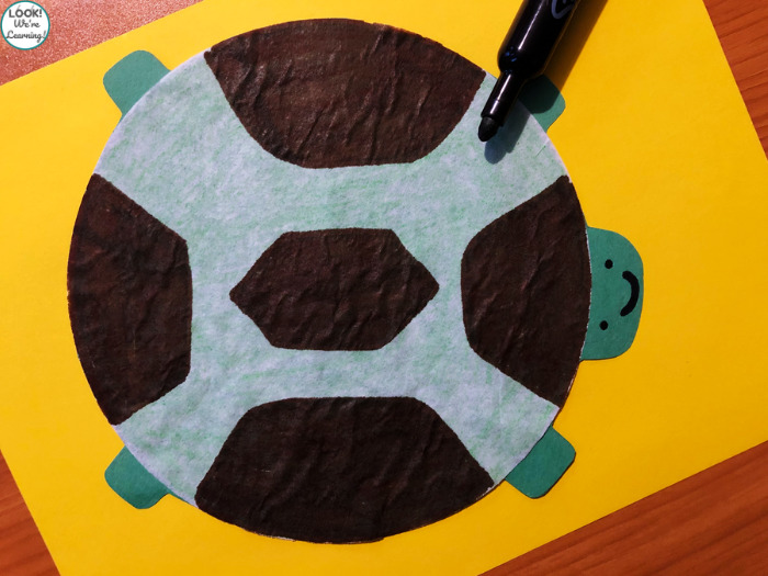 Making a Turtle Craft with Coffee Filters