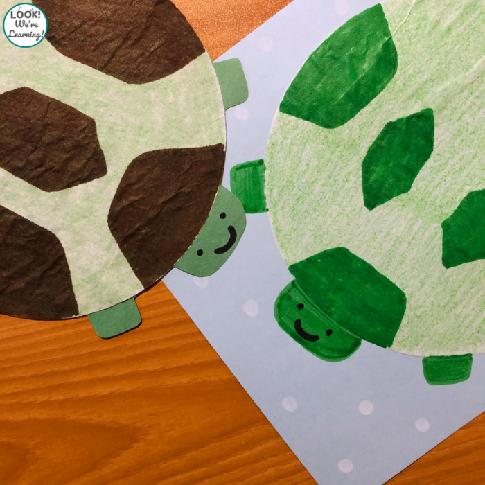 Making an Easy Coffee Filter Turtle Craft with Kids