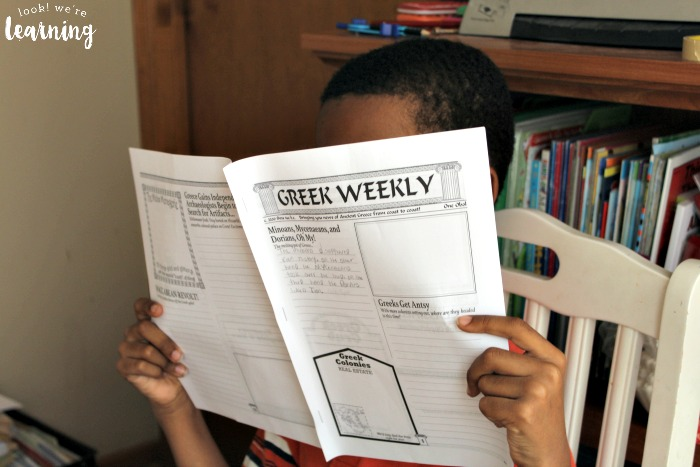 Perusing the Ancient Greece Unit Study Greek Weekly Newspaper