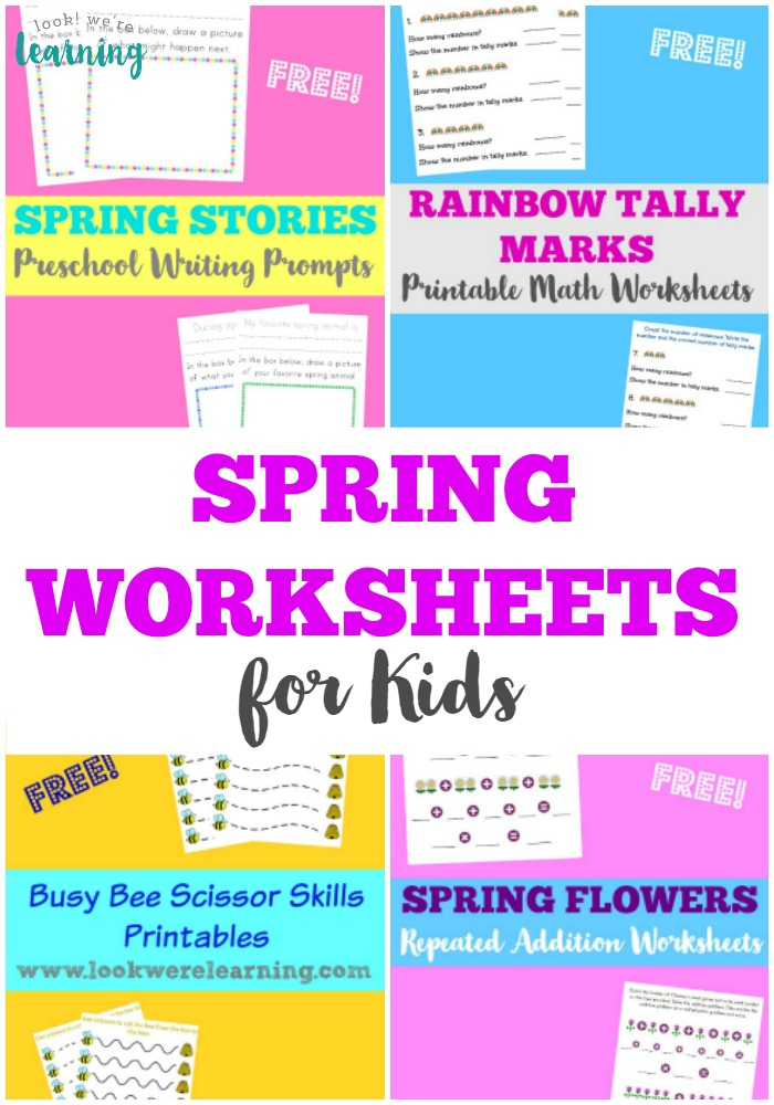 Pick up these printable spring worksheets for kids to keep them learning this spring!