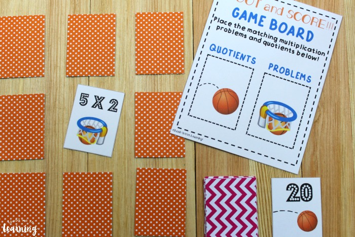 Playing the Shoot and Score Printable Multiplication Game