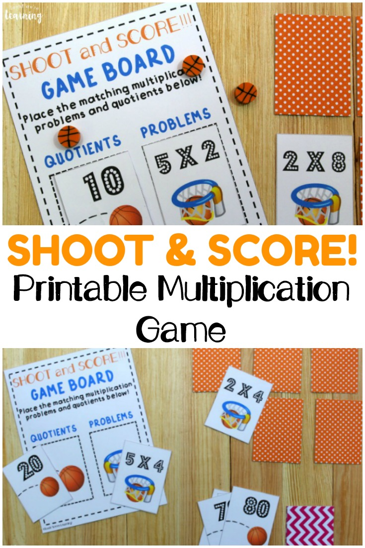 Practice multiplying by twos, fives, and tens with this fun, hands-on basketball themed printable multiplication game! Perfect for skip counting fluency!