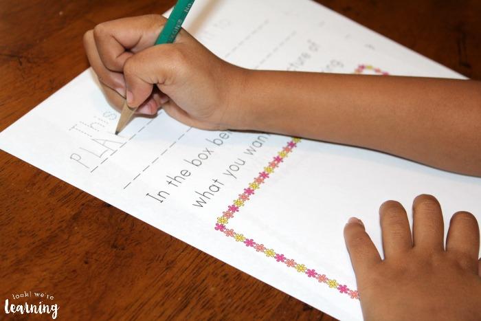 Preschool Spring Writing Prompts