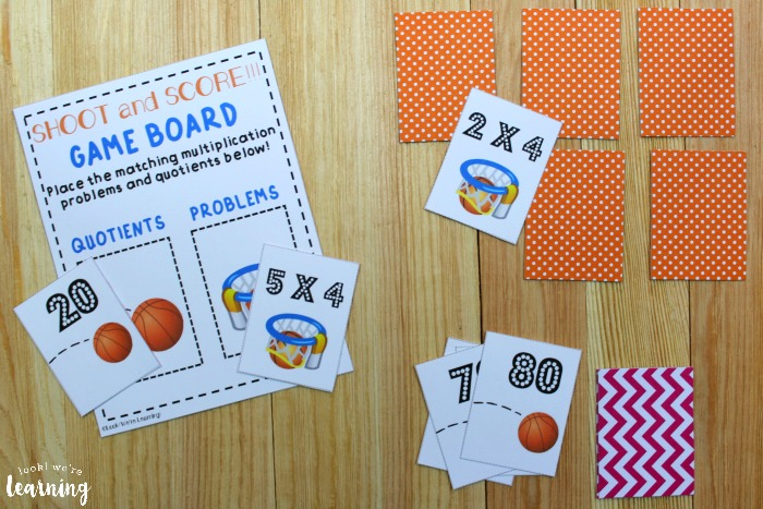 Printable Basketball Themed Multiplication Board Game
