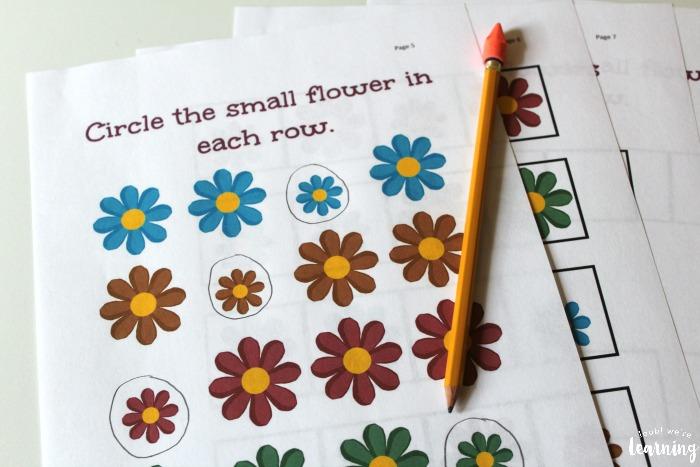 Printable Size Sorting Printables for Kids