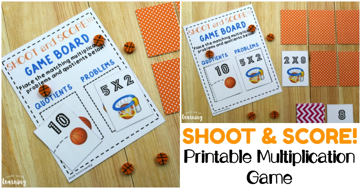 Shoot and Score! A Printable Multiplication Game for Kids