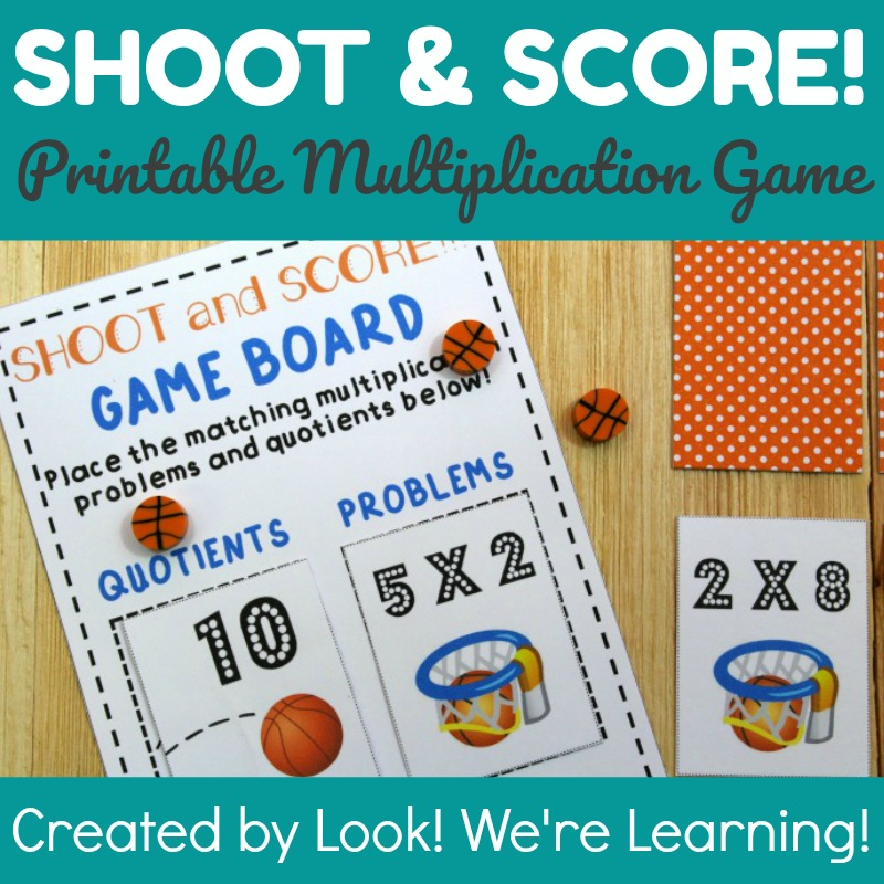 photo about Multiplication Game Printable named Shoot and Rating Printable Multiplication Match - Visual appearance! Had been