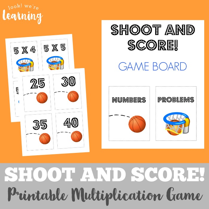 Shoot and Score Printable Multiplication Game - Look! We're Learning!