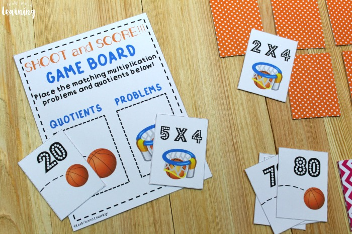 Shoot and Score Printable Multiplication Game for Kids