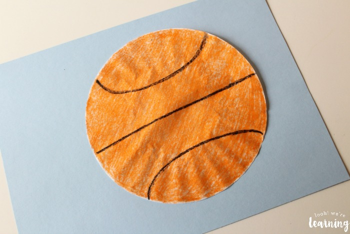 Simple Coffee Filter Basketball Craft