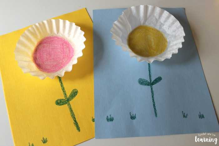 Simple Coffee Filter Flower Craft for Kids
