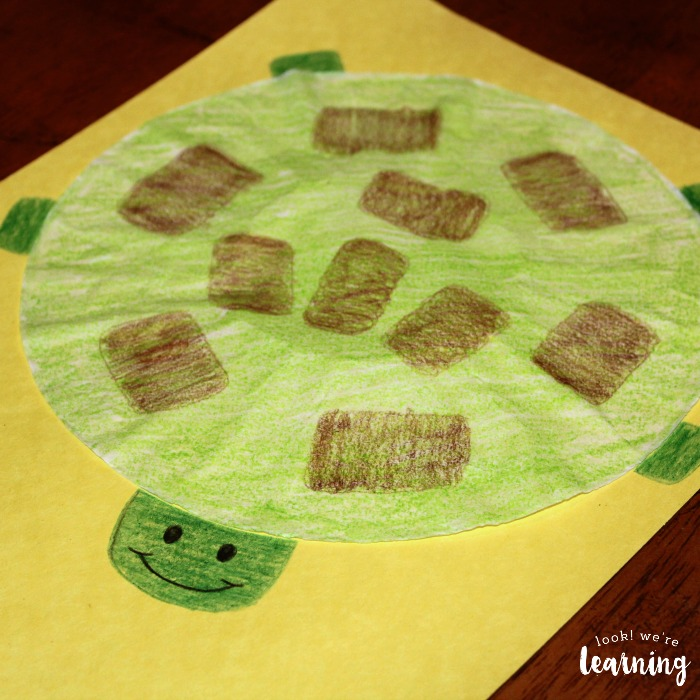 Simple Coffee Filter Turtle Craft for Kids