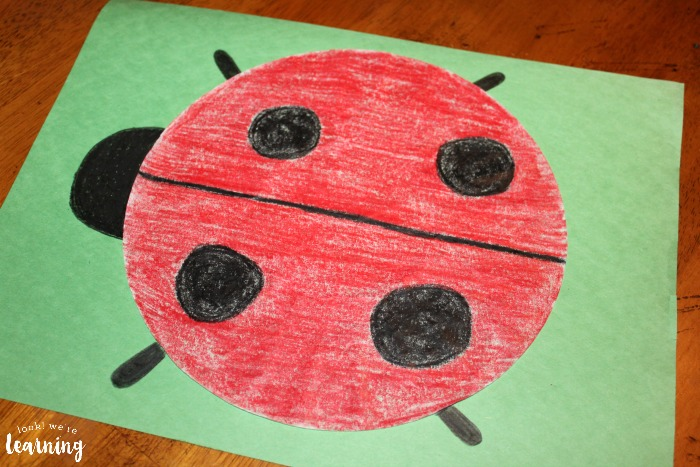Simple Ladybug Coffee Filter Craft - Look! We're Learning!