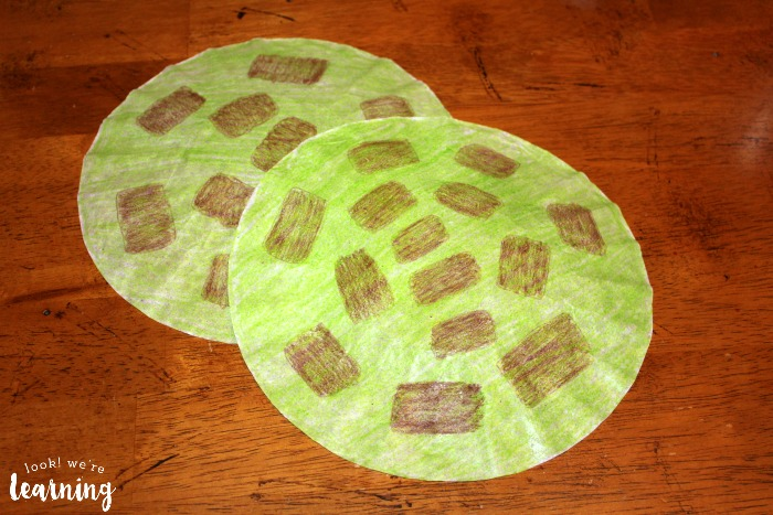Simple Turtle Craft from Coffee Filters