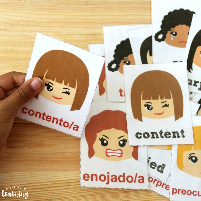 Spanish Emotions Flashcards for Kids