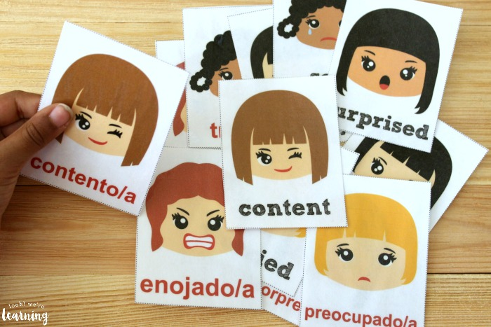 Spanish Feelings Flashcards for Kids