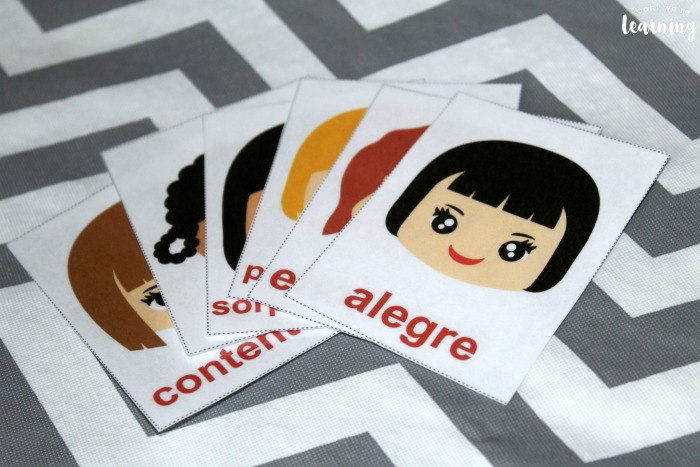 Spanish Feelings Flashcards for Kids