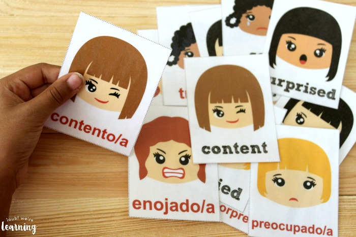 Spanish Feelings Flashcards for Vocabulary Practice