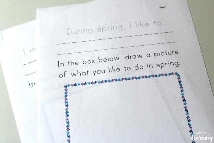 Spring Creative Writing Prompts for Preschoolers