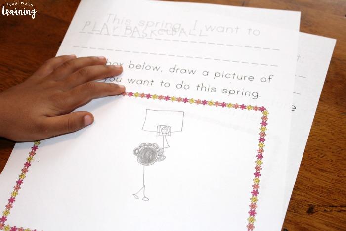 Spring Preschool Prompts
