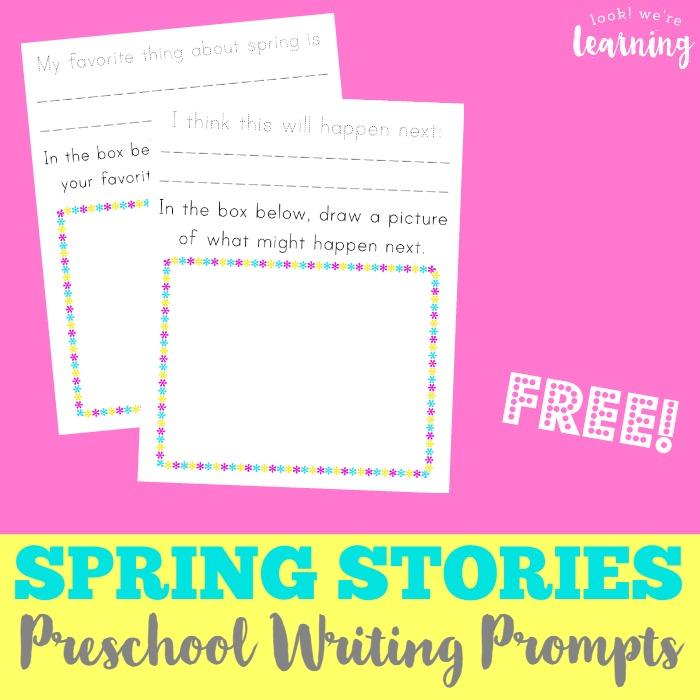 Spring Preschool Story Prompts - Look! We're Learning!